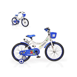 Byox Kinderfahrrad Kinderfahrrad 20 Zoll 2081, 1 Gang 1 Gang, keine, blau Stützräder Frontkorb Getränkehalter Klingel