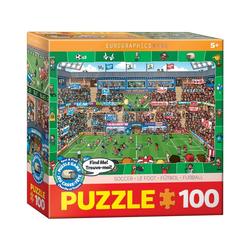 EUROGRAPHICS Puzzle Eurographics 6100-0476 Fußball 100 Teile Puzzle, Puzzleteile bunt