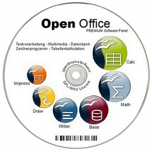 NEU bei Ebay: OPEN OFFICE für Windows 7 8 10 XP VISTA ersetzt Word Excel Büro
