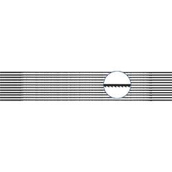 810440 12 St. Laubsägeblatt für Weich- und Hartholz, Kunststoff, Plexiglas 12er Pack