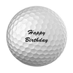 elbedruck Golfball Golfball mit Spruch. 3 Stück Golfbälle Wilson Ultra mit dem Spruch Ihrer Wahl, verpackt im kleinen Leinenstruktur Säckchen weiß
