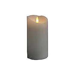 LED-Kerze Echtwachs mit flackernde 3D Flamme 7 5 cm x 10 cm mit Timer