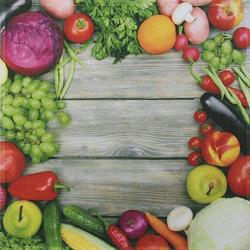 framsohn Geschirrtuch Vollflächendruck 'Gemüse' 50 x 50 cm
