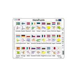 Larsen Puzzle Memo-Puzzle Flaggen, Puzzleteile