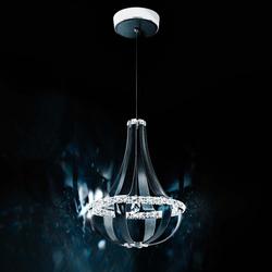 Swarovski Crystal Empire LED Pendellampe in Weiß Pass mit klaren Kristallen