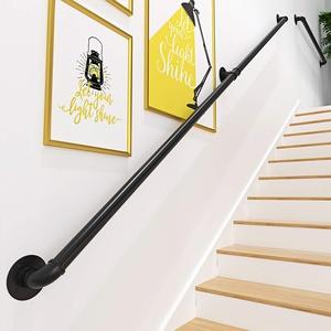 Gorssen Handlauf - Handlaufset.Treppengeländer für den Innen Außen, Wandhandlauf Wohnung Draußen Handläufe Treppen Handlauf Geländer Bausatz Balkon Brüstung,60cm