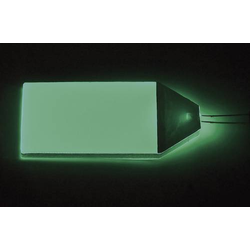 TRU Components LP-66-32-GN LED-Hintergrundbeleuchtung Grün (L x B x H) 66 x 32 x 3.5mm