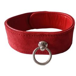 Leder Bondage Designer Halsband gepolstert rot