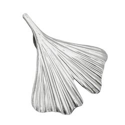 Gallay Kettenanhänger Anhänger 20x20mm Ginkgoblatt Silber glänzend 925 (inkl. Schmuckbox), Silberschmuck für Damen