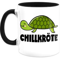 Shirtracer Tasse Chillkröte - Statement Tasse - Tasse zweifarbig, Keramik