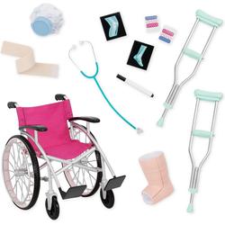 Our Generation Puppen Accessoires-Set Rollstuhl mit Zubehör für Puppen