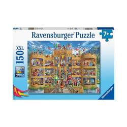 Ravensburger Puzzle Puzzle Blick in die Ritterburg, 150 Teile, Puzzleteile