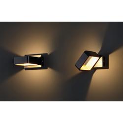 Quadratische LED-Wandleuchte Tokyo schwarz