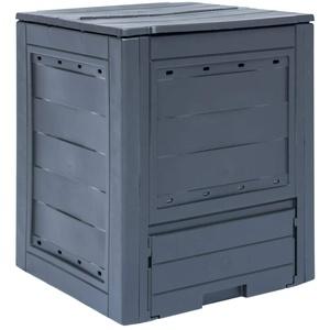 Festnight Gartenkomposter | Kompostbehälter | Komposter | Thermokomposter | Grau Kunststoff 60 x 60 x 73 cm 260 L
