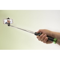Cullmann 50113 SMARTselfie Easy Bluetooth Selfiestick 76 cm schwarz/rosa