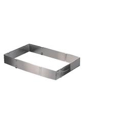 APS Backform 19 x 28 - 34 x 54 cm Höhe 5 cm aus flexiblem Edelstahl stufenlos verstellbar VE 25 Stück 00042