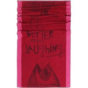 Lashuma Strandtuch Capri 75 x 150 cm, XXL Strandhandtuch Rot, Liege Badetuch mit Velours Oberfläche, Material: 100% Baumwolle