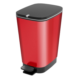KIS CHIC Bin Abfallbehälter, Maße: 26,5 x 40,5 x 45 cm, Farbe: Rot