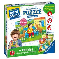 Ravensburger Puzzle ministeps Mein allererstes Puzzle: Streichelzoo, 5 Puzzleteile bunt