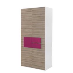 Jugend Kleiderschrank in Holz Pink modern