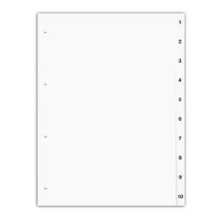 Ordnerregister A4, 1-10, 10-teilig