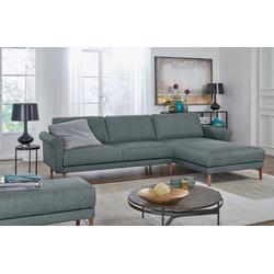 hülsta sofa Ecksofa hs.450, im modernen Landhausstil, Breite 282 cm blau