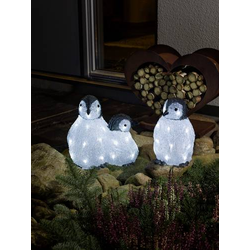 Konstsmide 6270-203 Acryl-Figur Pinguin 3er Set LED