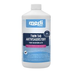 mediPOOL Twin Tab Aktivsauerstoff 200 g, Die 2in1 Komplettpflege auf Aktivsauerstoffbasis, 1000 g - Dose