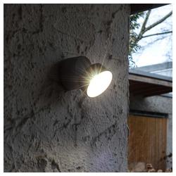 Lutec LED Außen-Wandleuchte Trumpet L 90° schwenkbare LED