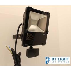 LED Fluter, LED Außenstrahler mit Bewegungsmelder, Scheinwerfer 20W (LED farben: NW neutrallweiß)