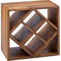 Wohnling Weinregal KANOI Sheesham Massivholz 40x40x25 cm)
