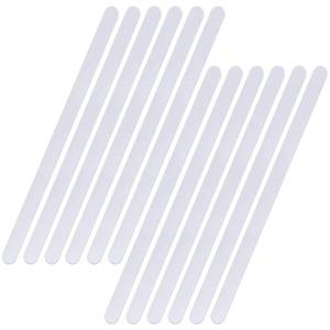BaiJ Anti Rutsch Streifen für Badewanne,12 Stück Antirutschmatte für Dusche Rutschmatte Duschmatten Antirutsch Badewannenmatte,Transparent Selbstklebend rutschfest 38cm x 2cm