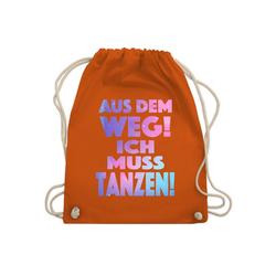Shirtracer Turnbeutel Aus dem Weg! Ich muss tanzen! - Festival Turnbeutel - Turnbeutel - Jutebeutel & Taschen, turnbeutel festival