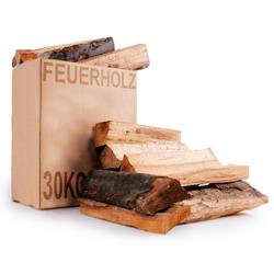 30 kg Karton Holz Grill Ofen Kamin Heizung Brennholz Buchenholz Eichenholz