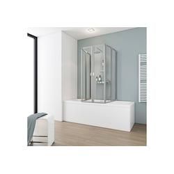 Schulte Badewannenaufsatz 6-tlg., Kunststoff, 6-tlg., nach Gebrauch flach an die Wand klappbar