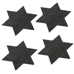 4 Filz Untersetzer Sterne Glasuntersetzer Ø 35cm - dunkelgrau