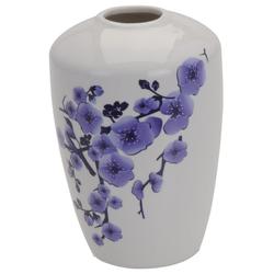 Vase mit Lila Blumendekor