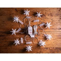 LED-Lichterkette Baby-Adventssterne weiß