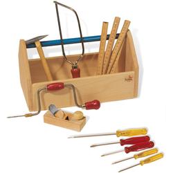 Pinolino Kinder-Werkzeug-Set Werkzeugkiste mit Werkzeug, (Set, 11-tlg.) bunt Kinder Ab 3-5 Jahren Altersempfehlung Spielwerkzeug