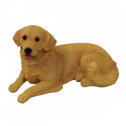 1PLUS Gartenfigur 1PLUS Polyresin Gartenfigur Hund Gartendekoration Größe (B x H x T): ca. 28 x 14 x 14,5 cm