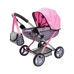Bayer Puppenwagen Puppenwagen Cosy, pink Sterne grau