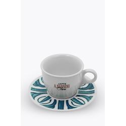 Caffè A. Nannini Cappuccinotasse mit blauer Untertasse