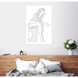 Posterlounge Wandbild, Die Denkende 40 cm x 60 cm