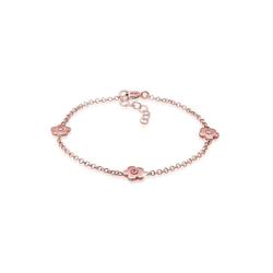 Elli Armband Kinder Blumen Kristalle 925 Silber rosa