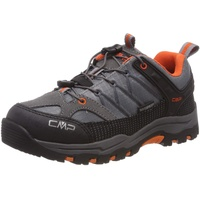 "CMP Kids Rigel Low Kinder Trekkingschuhe, ""Riegel"" in Orange & Wanderhalbschuhe, Grau (Stone-Orange 78uc), 35"