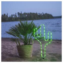 click-licht Gartenleuchte LED Deko Kaktus Tuby in Grün Batteriebetrieben, Gartenleuchten grün