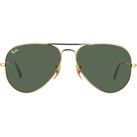 Ray Ban Aviator Large Metal RB3025 55mm gold / green