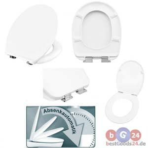 WC Sitz TOILETTENDECKEL Toilettensitz Klodeckel ABSENKAUTOMATIK KLOBRILLE Bad