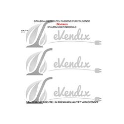 eVendix Staubsaugerbeutel 10 Staubsaugerbeutel Staubbeutel passend für Staubsauger Bomann BS 981 CB (R), passend für Bomann