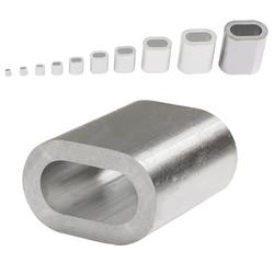 Aluminium Pressklemmen 12 mm (50 Stück) Pressklemmen Alupressklemmen Presshülsen